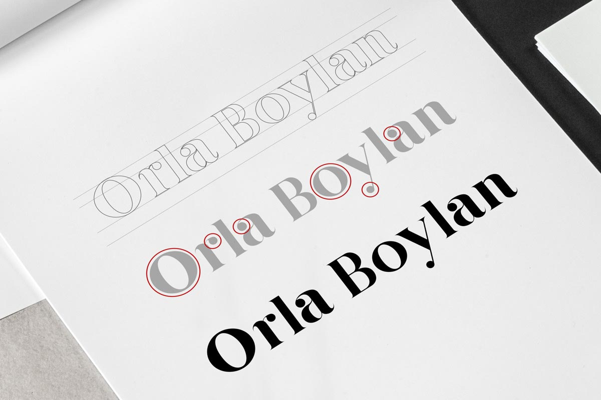 Orla Boylan logo development – Marshall Light Studio