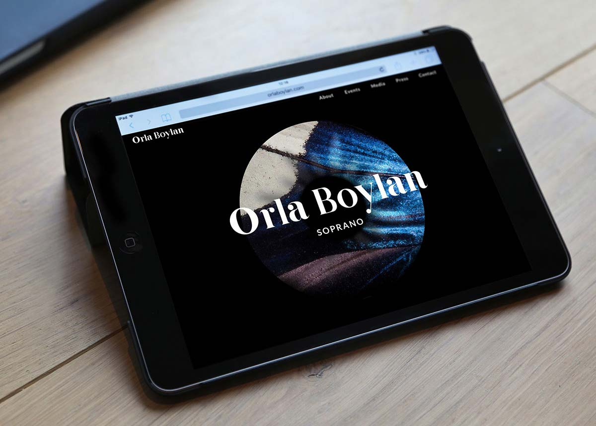 Orla Boylan responsive website design by Marshall Light Studio