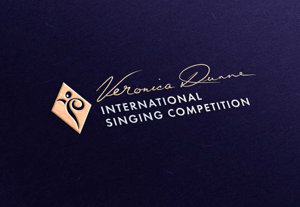 Veronica Dunne International Singing Competition (VDISC) logo design by Marshall Light Studio