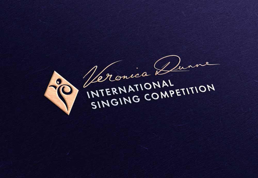 Veronica Dunne International Singing Competition (VDISC) logo design by Marshall Light Studio
