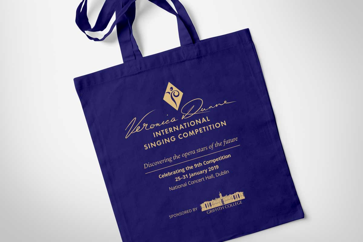 Veronica Dunne International Singing Competition (VDISC) Tote bag design by Marshall Light Studio