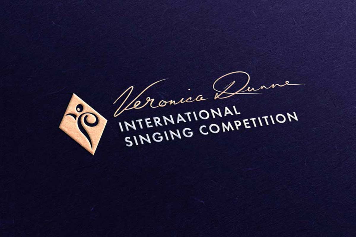 Veronica Dunne International Singing Competition (VDISC) brand design by Marshall Light Studio