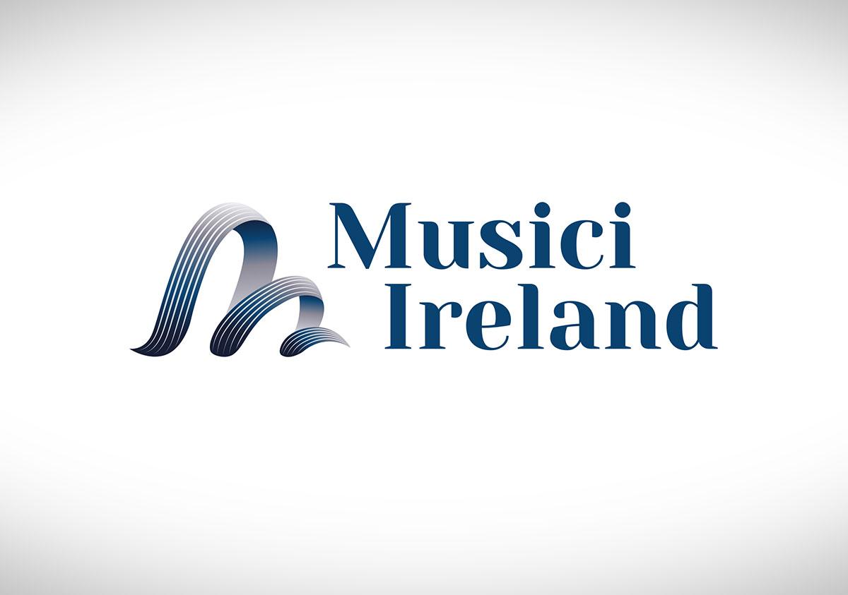 Musici Ireland logo design by Marshall Light Studio