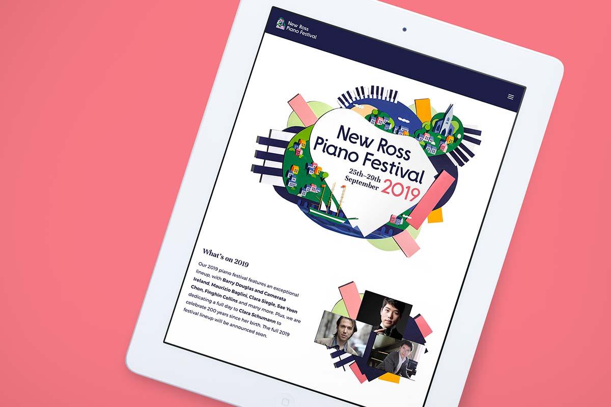 New Ross Piano Festival responsive website design by Marshall Light Studio