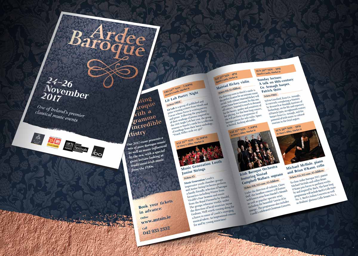 Ardee Baroque Festival – Programme and poster design by Marshall Light Studio