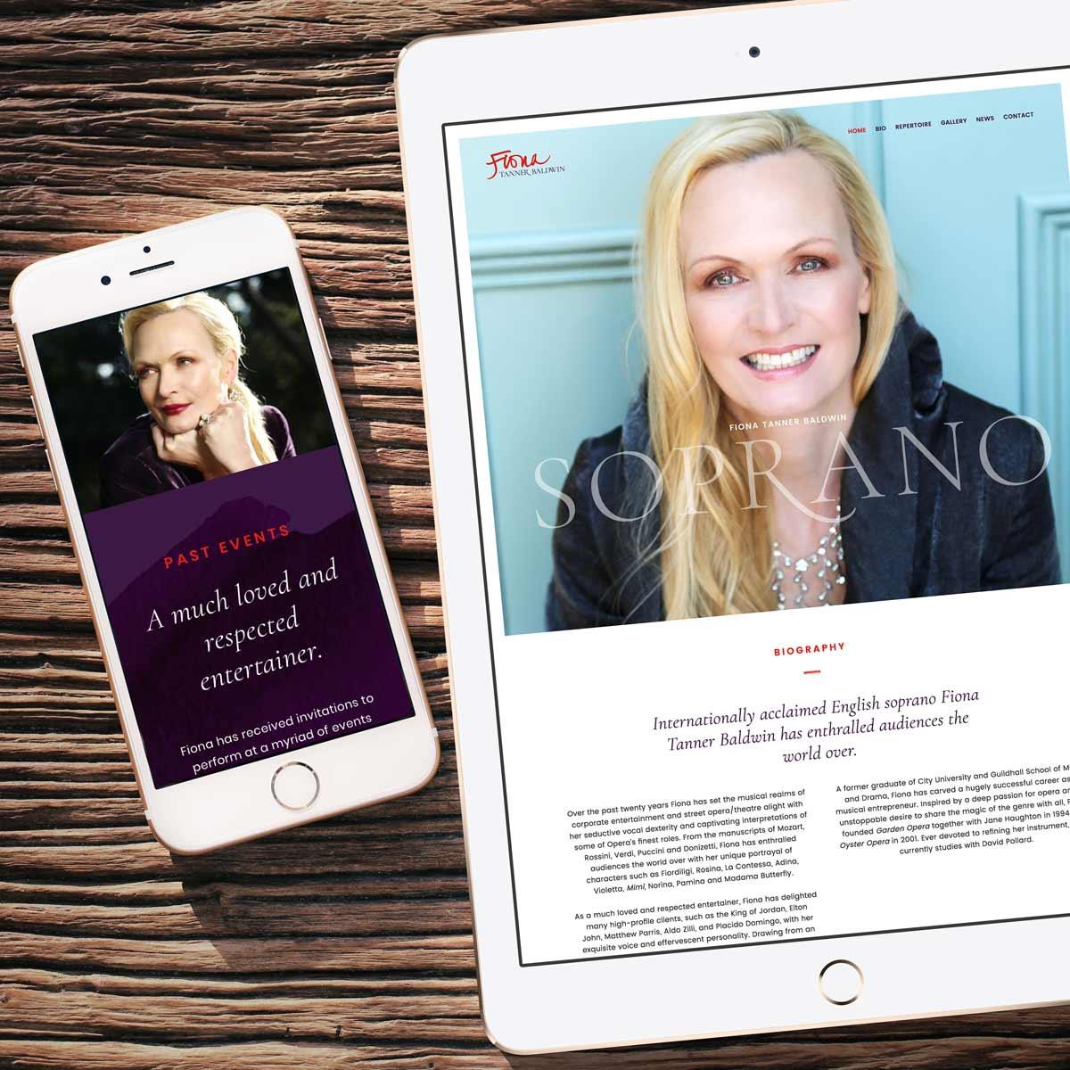 Fiona Tanner Baldwin, Soprano – Brand and website design by Marshall Light Studio