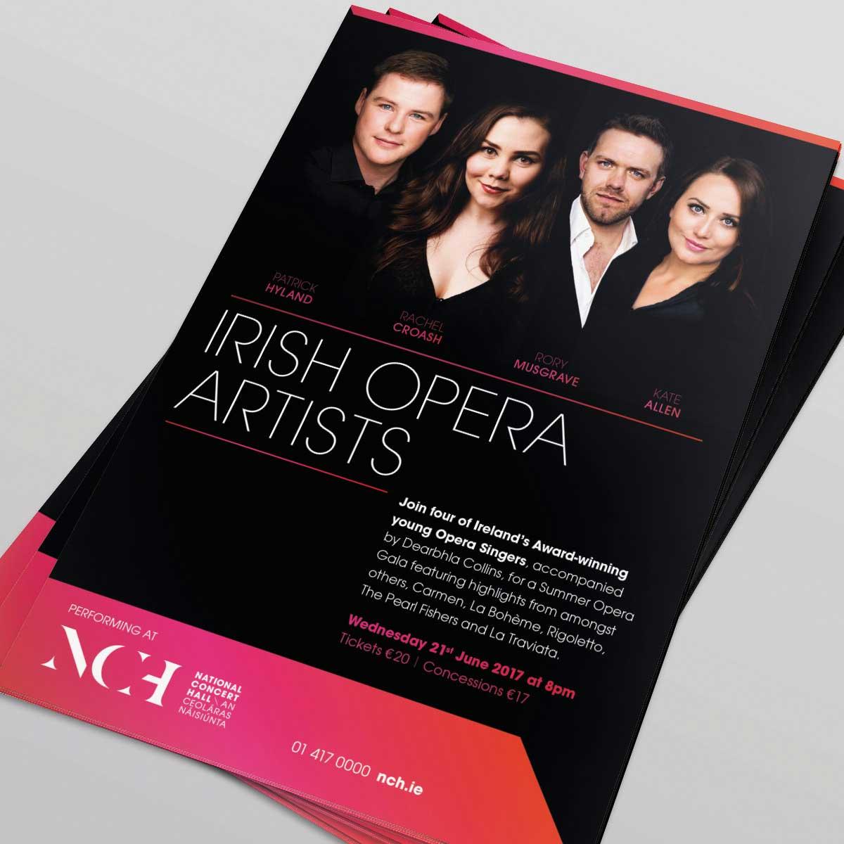 Irish Opera Artists – Brand and flyer design by Marshall Light Studio
