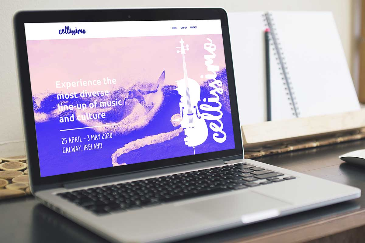 Cellissimo Festival in Galway – Brand and website design by Marshall Light Studio