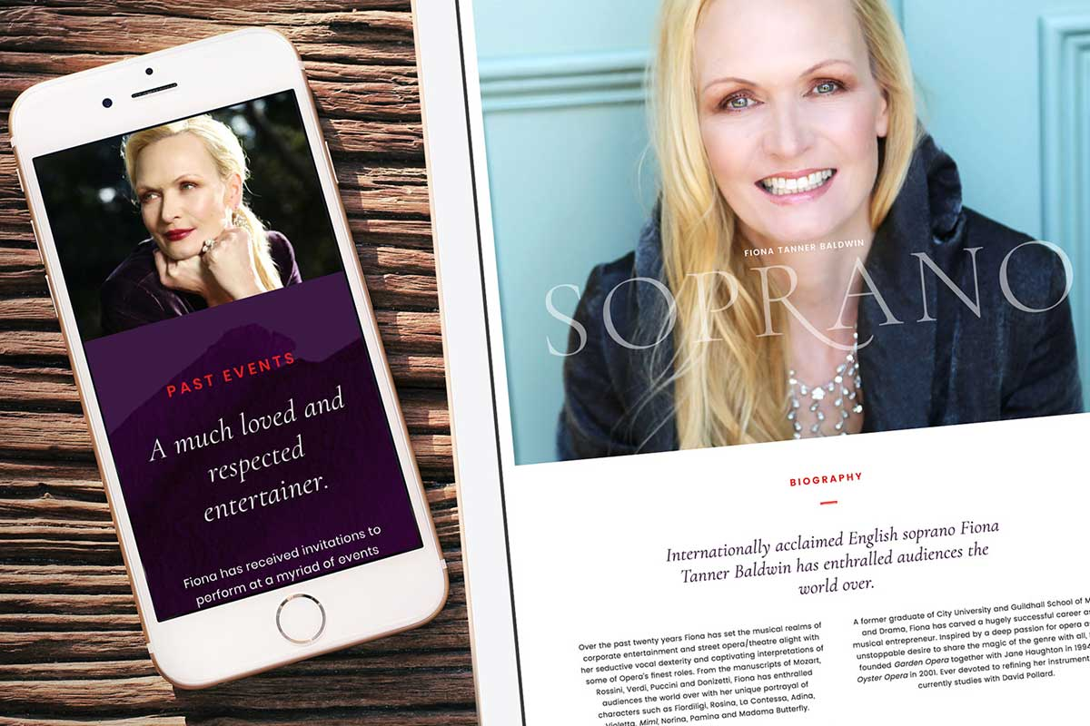 Fiona Tanner Baldwin, Soprano – Responsive website by Marshall Light Studio