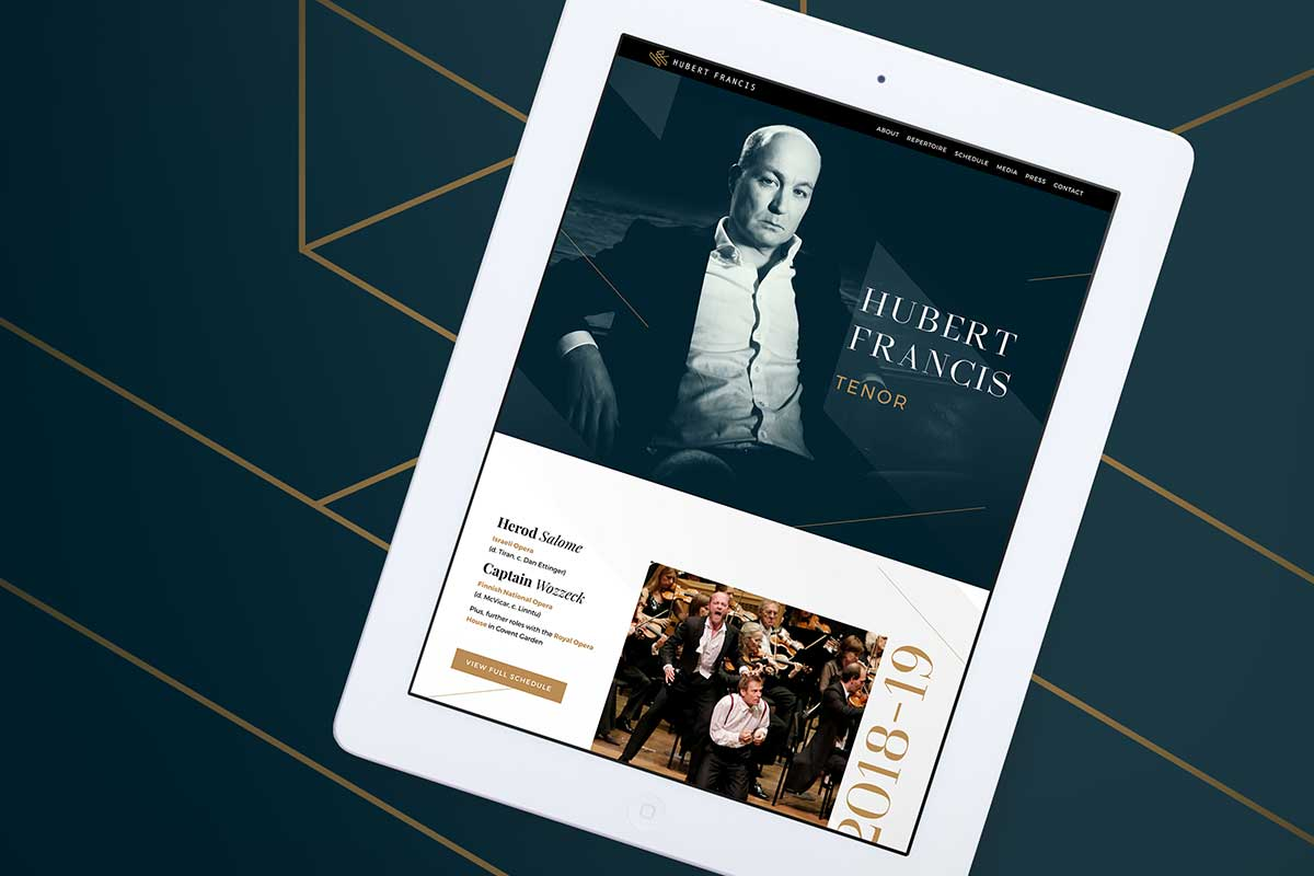 Hubert Francis, Tenor – Responsive website design by Marshall Light Studio