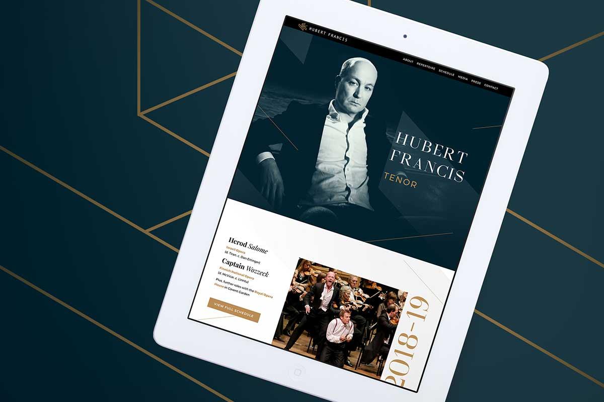 Hubert Francis, Tenor – Responsive website design by Marshall Light Studio