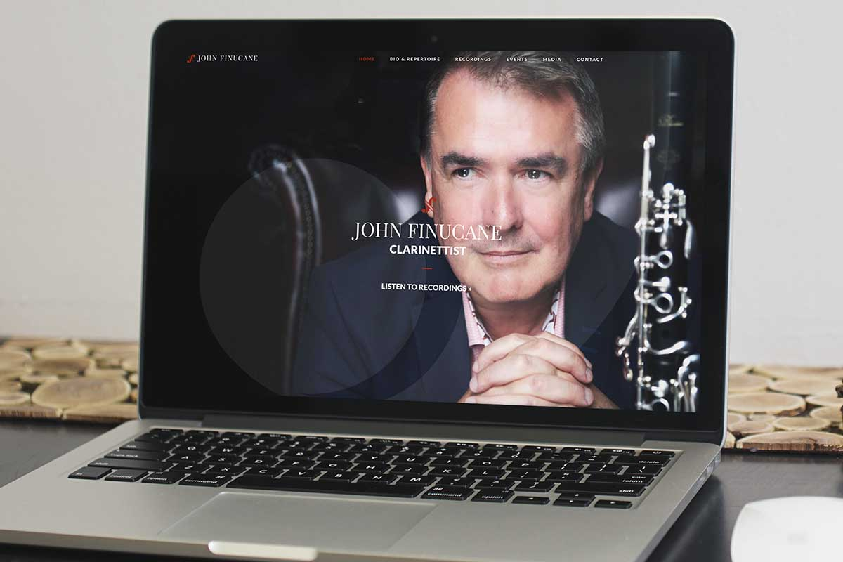 John Finucane, Clarinettist – Responsive website design by Marshall Light Studio