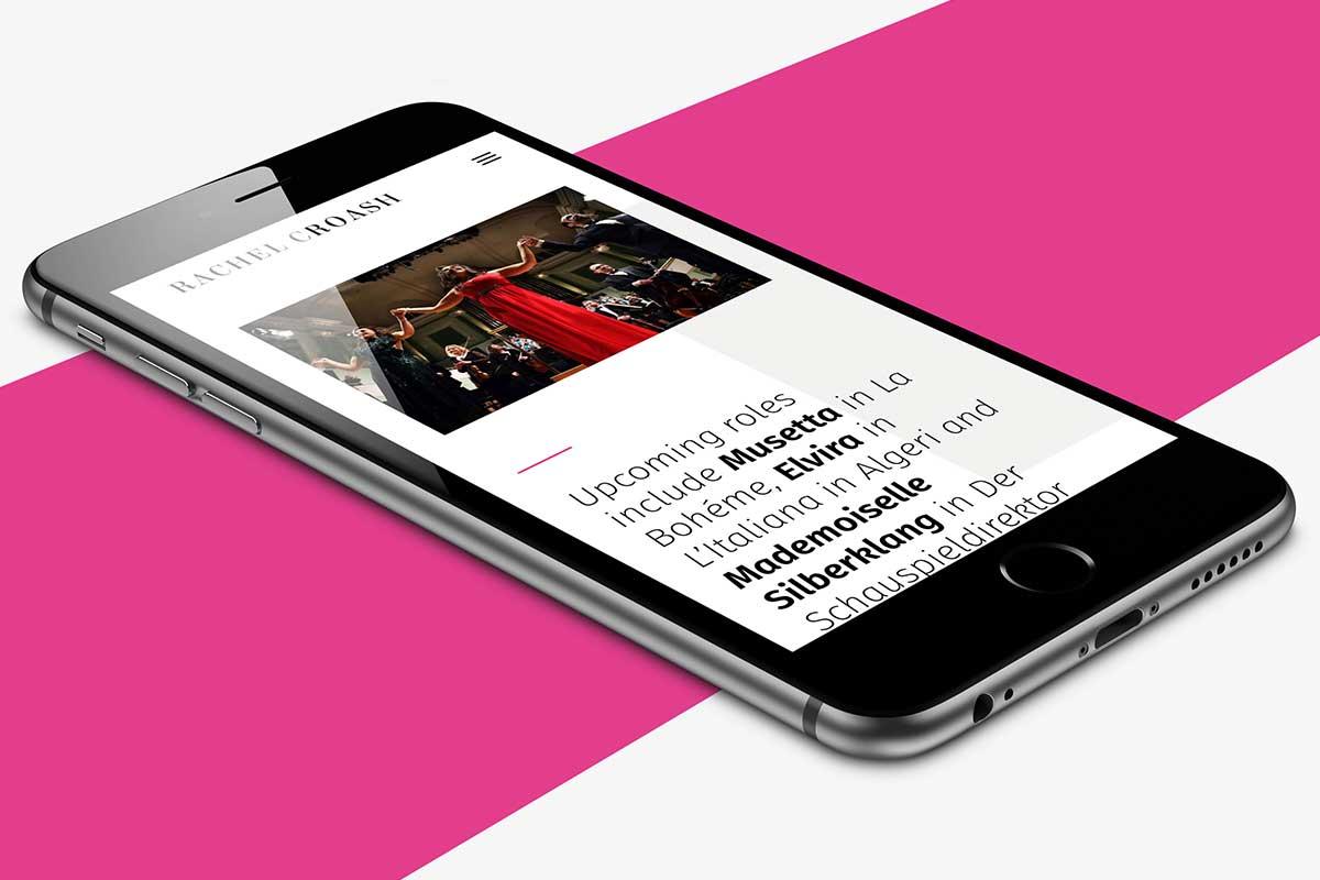 Rachel Croash, Soprano – Responsive website design by Marshall Light Studio