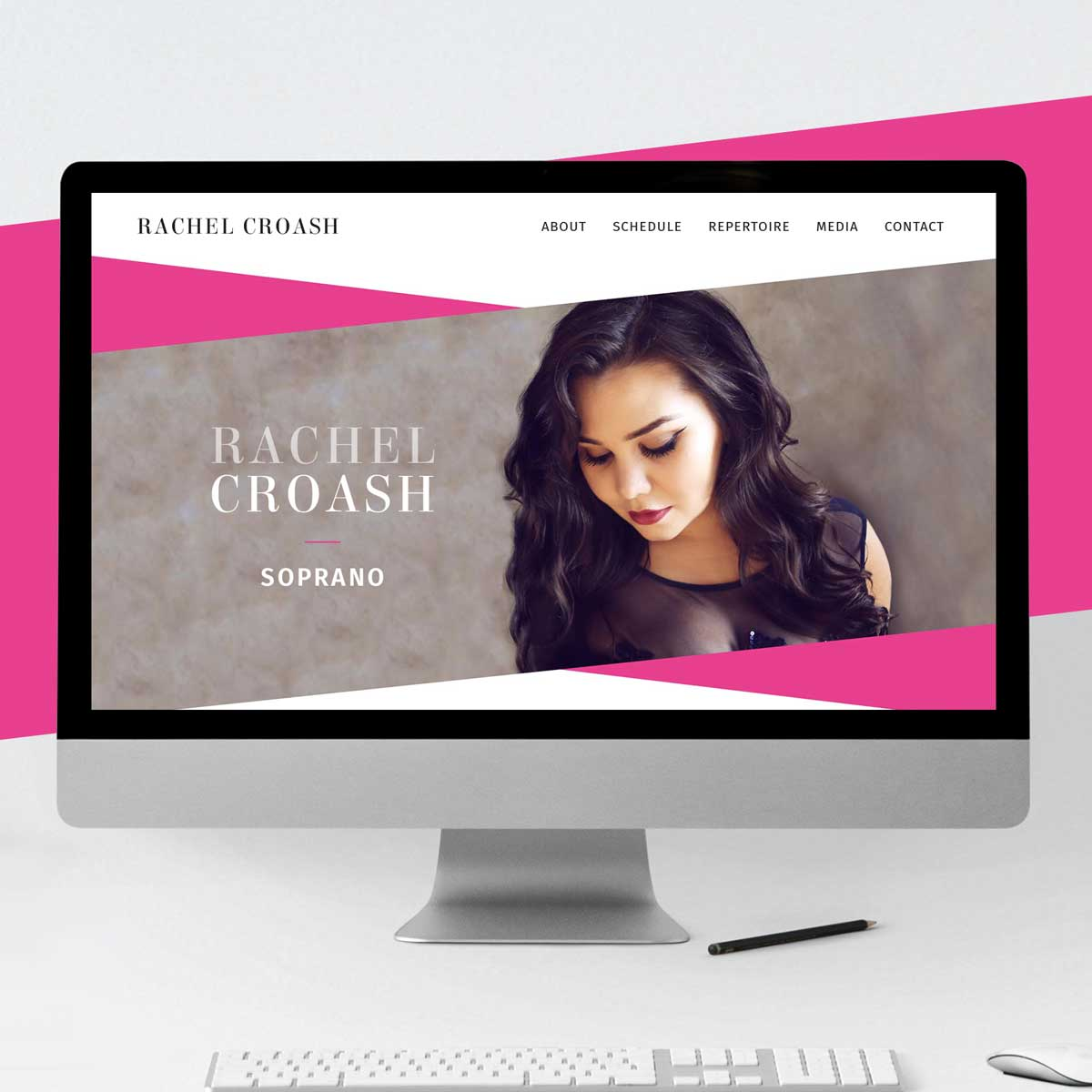 Rachel Croash, Soprano – Responsive website design by Marshall Light Studio