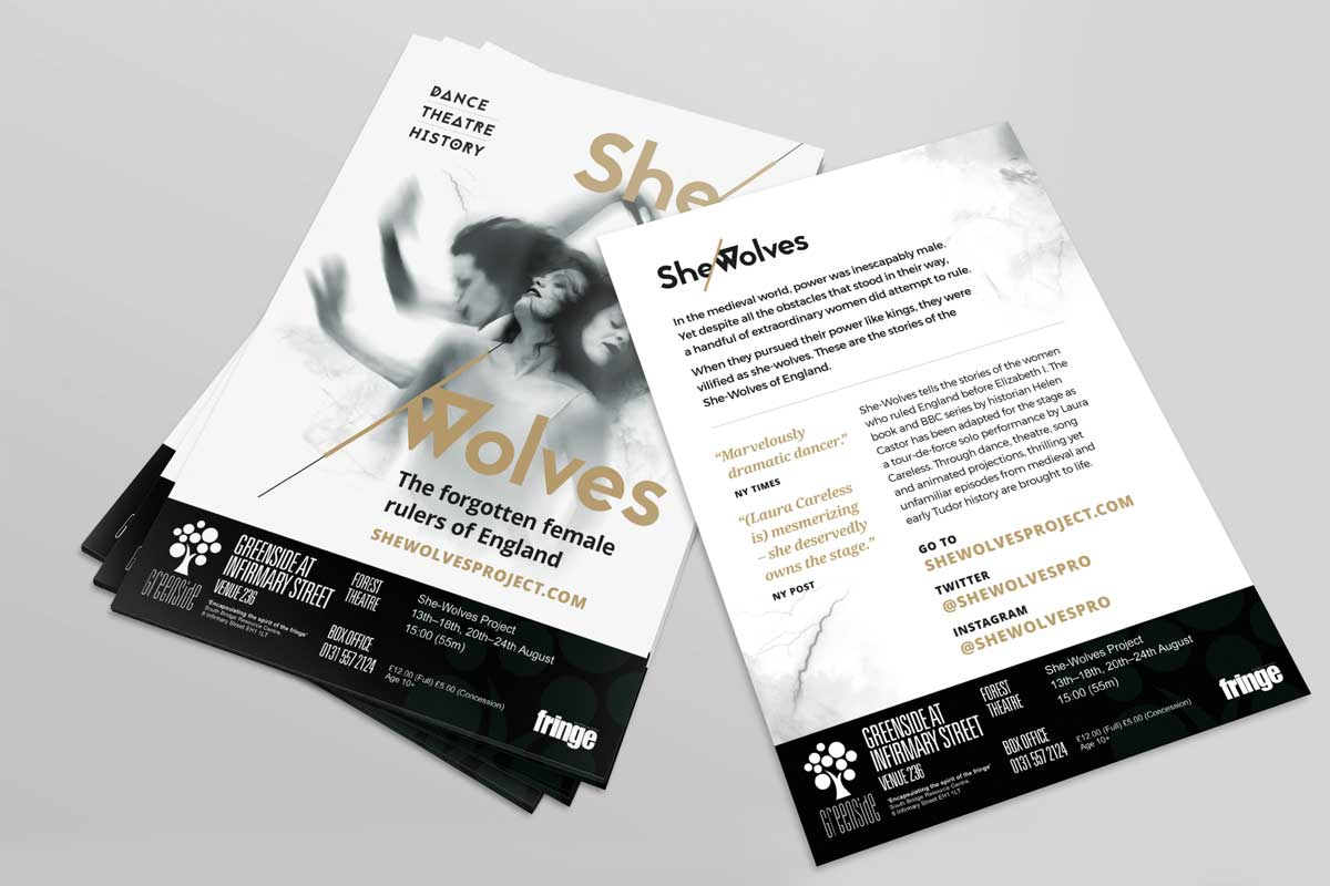 She-Wolves Project flyer design by Marshall Light Studio