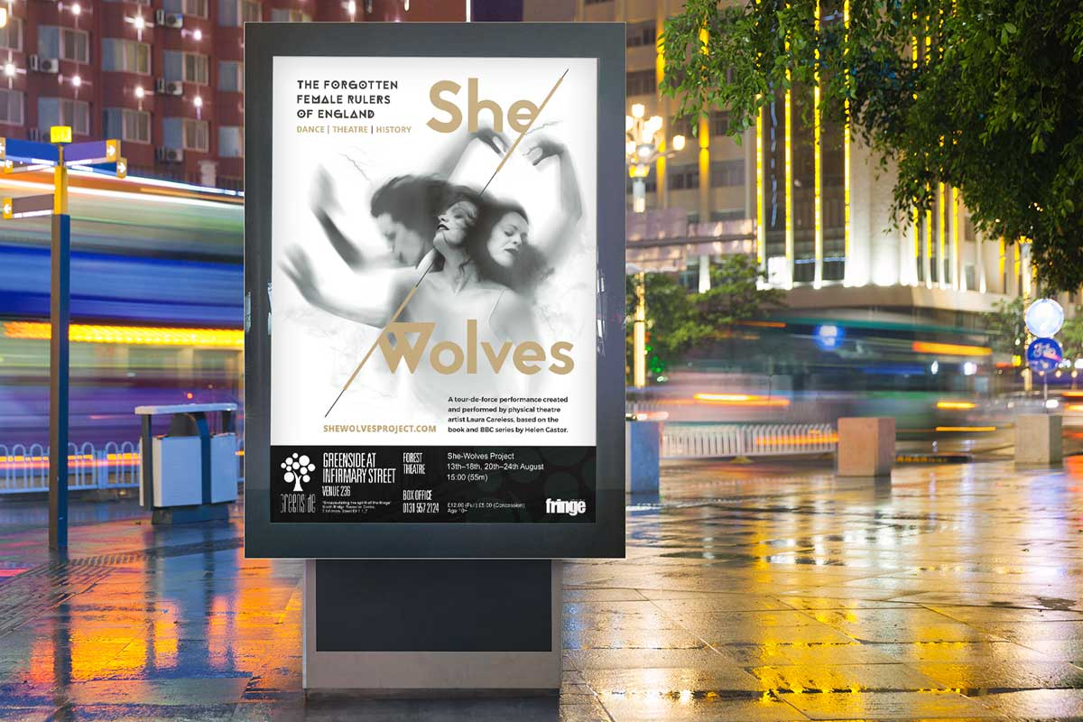 She-Wolves Project brand design and poster design by Marshall Light Studio