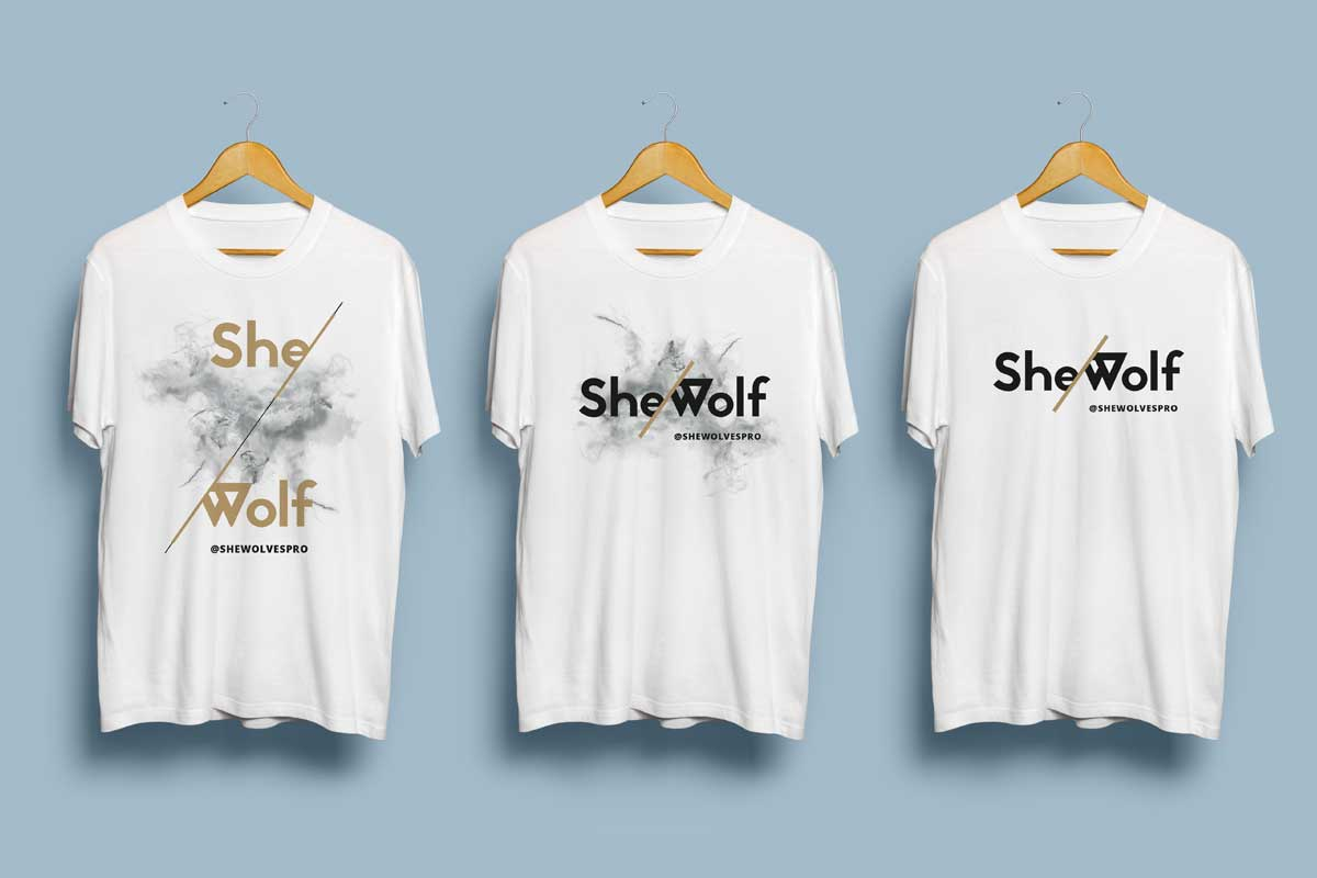 She-Wolves Project tshirt design by Marshall Light Studio