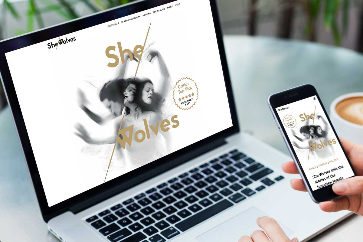 She-Wolves Project brand and website design by Marshall Light Studio