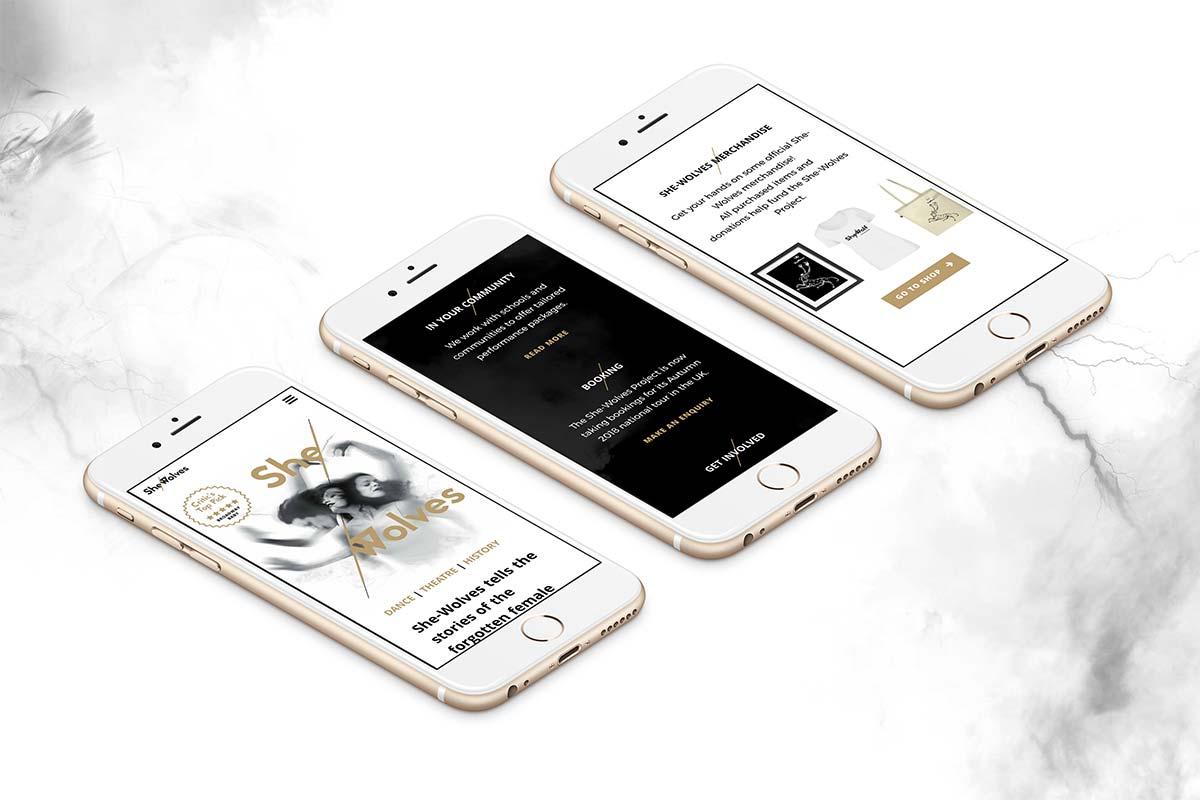 She-Wolves Project responsive website design by Marshall Light Studio