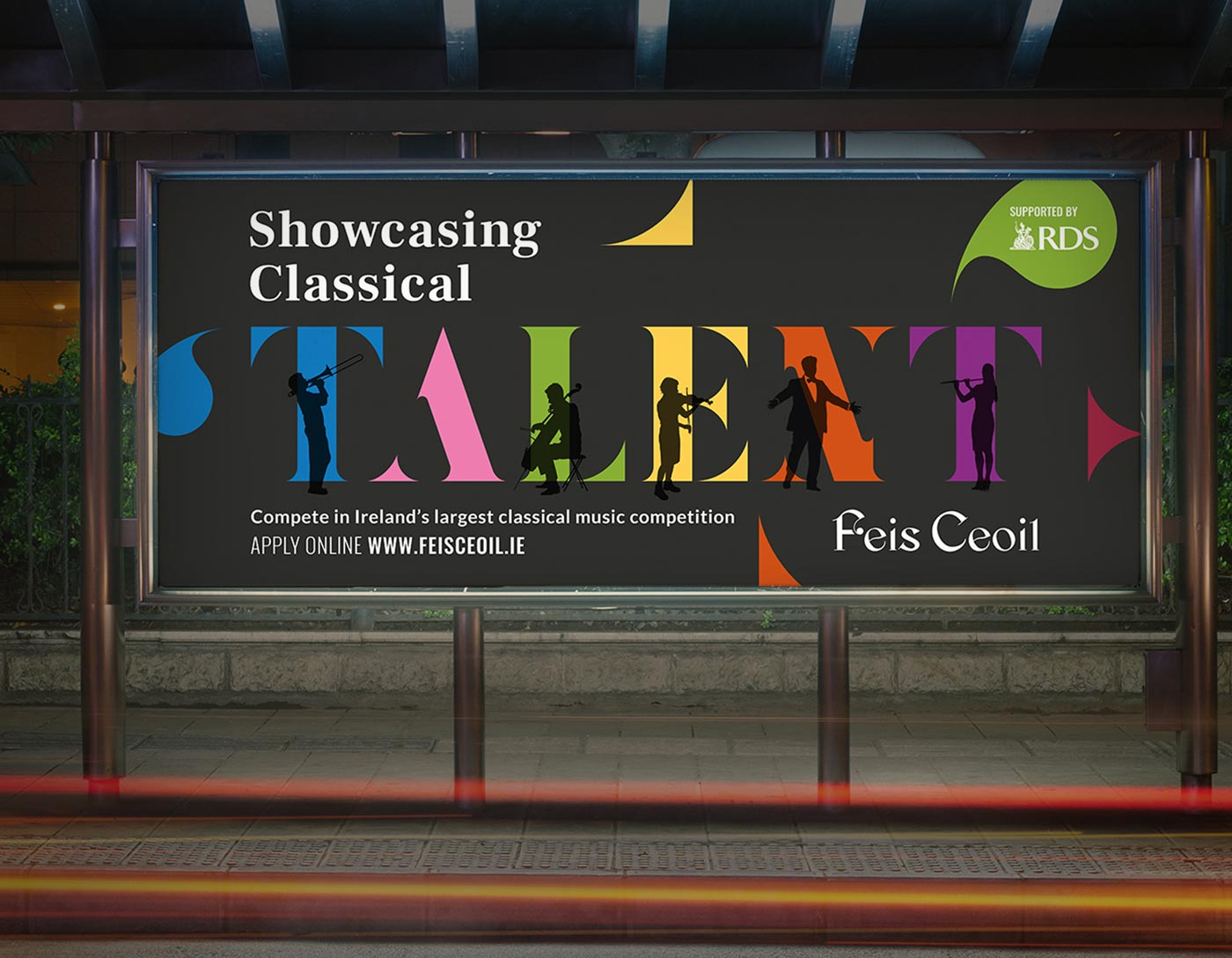Feis Ceoil – Billboard design + advertising by Marshall Light Studio