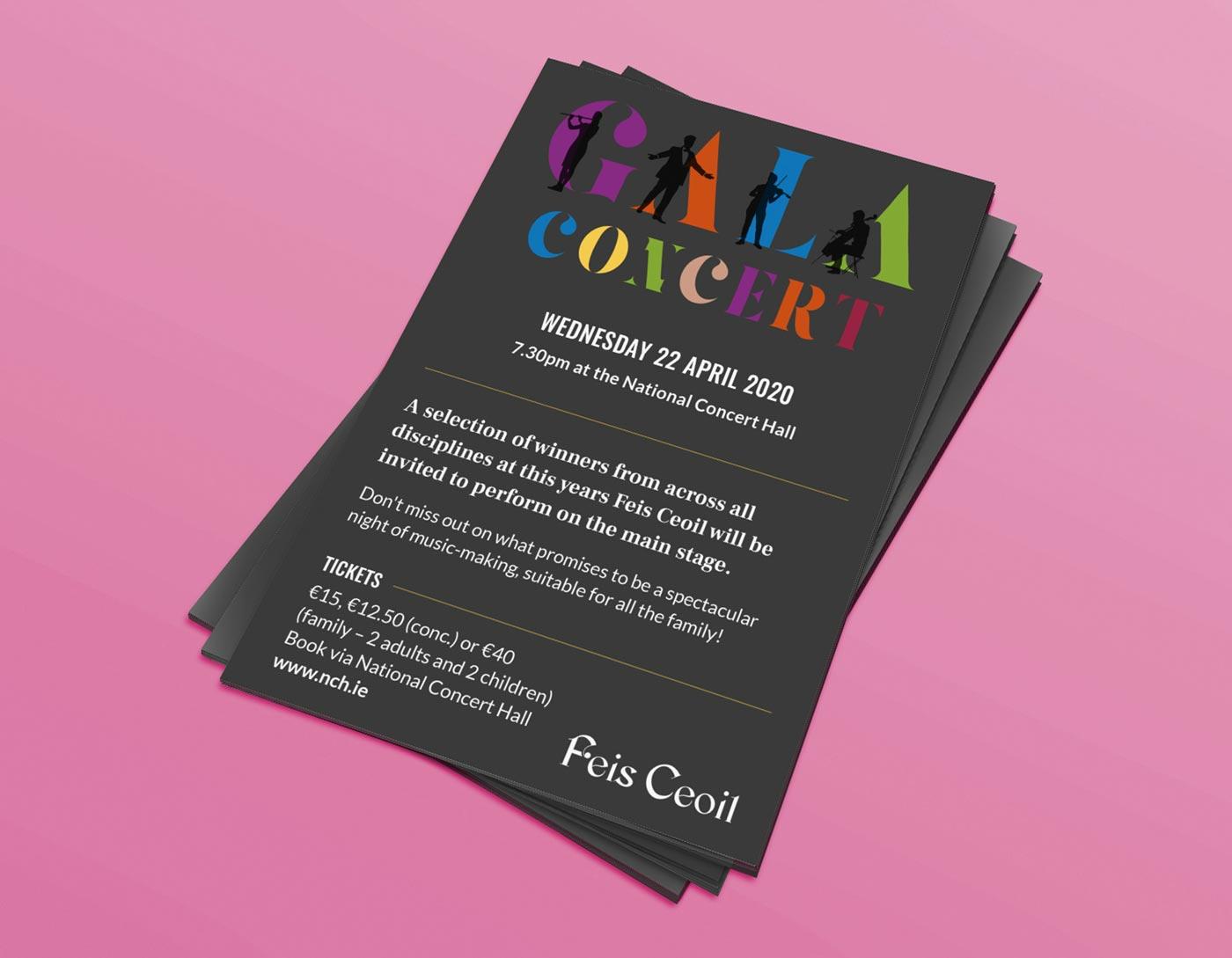 Feis Ceoil – Flyer design + print by Marshall Light Studio
