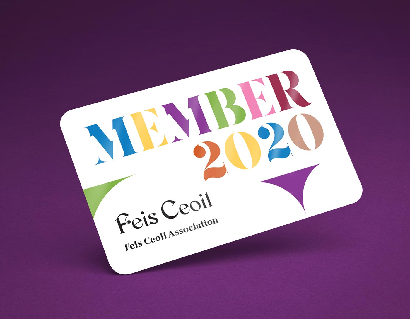 Feis Ceoil – Members card design + print by Marshall Light Studio