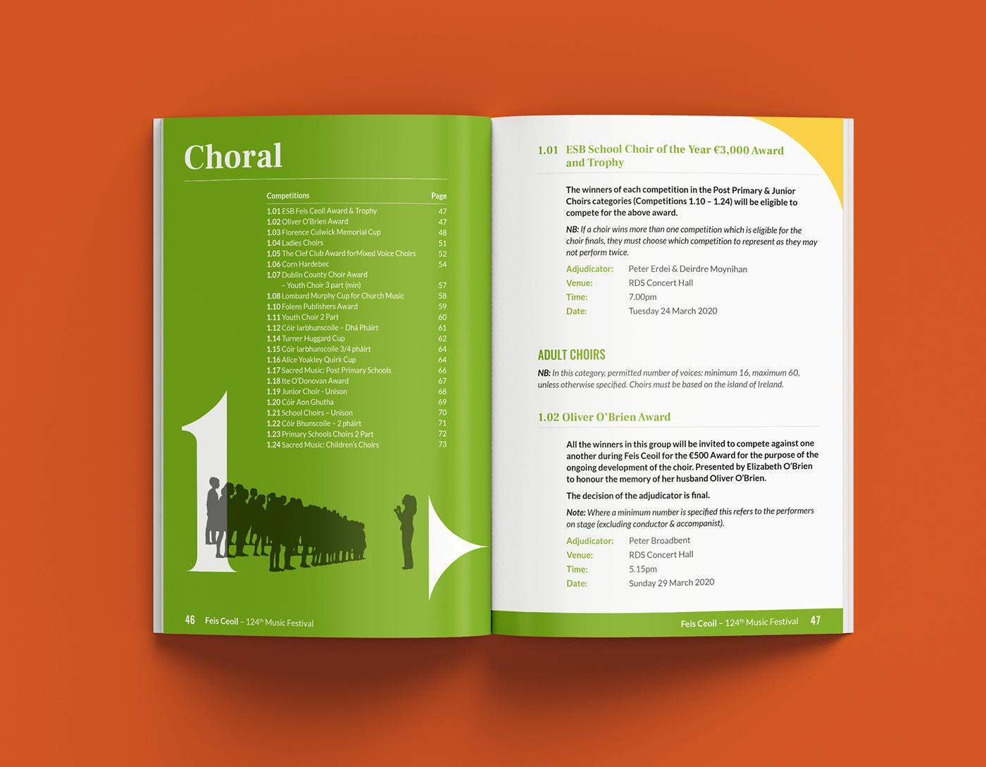Feis Ceoil – Programme design + print by Marshall Light Studio