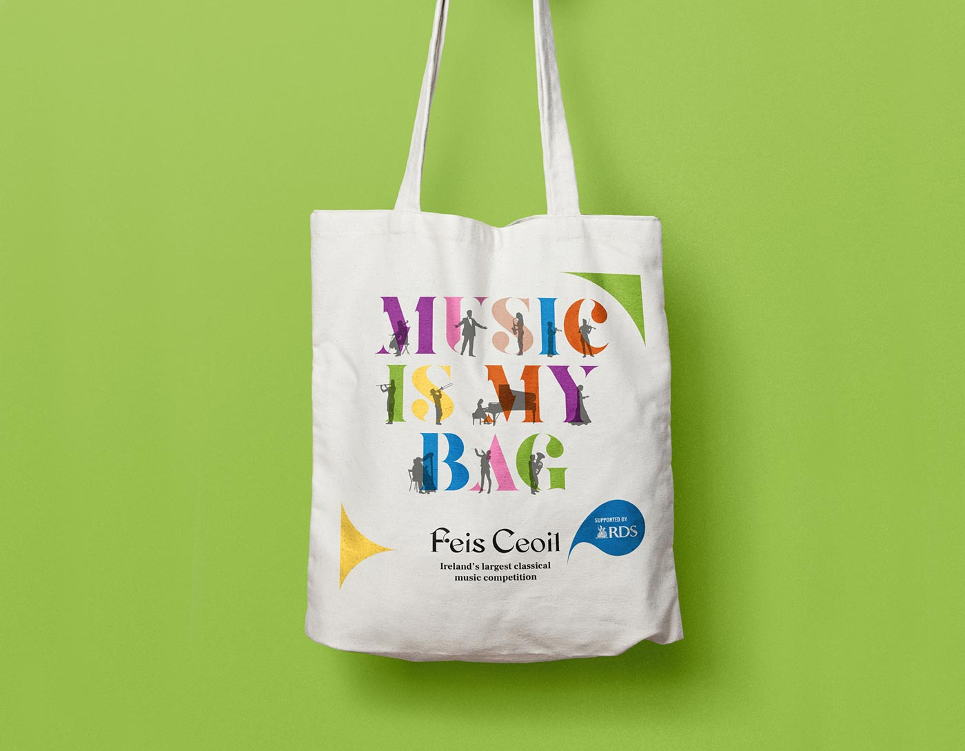 Feis Ceoil – Tote bag design by Marshall Light Studio