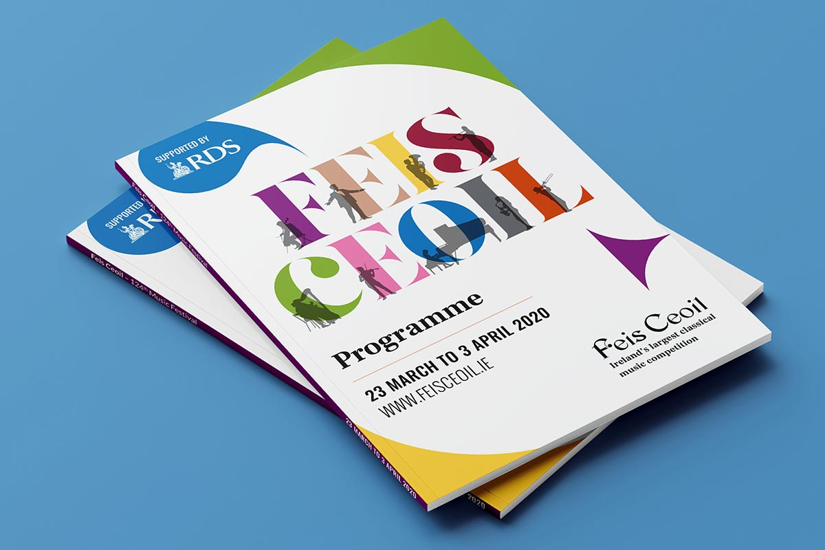 Feis Ceoil – Brand identity design + print by Marshall Light Studio
